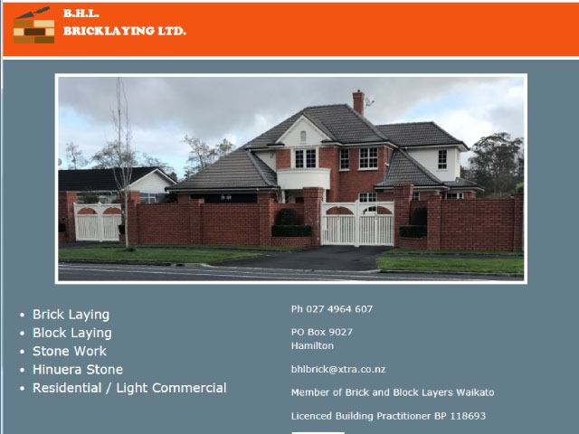 B.H.L. Bricklaying Ltd